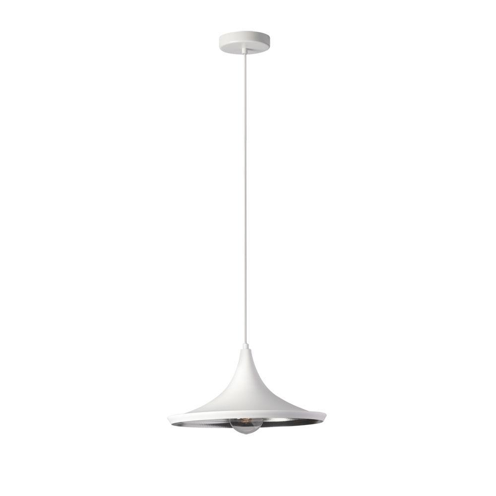 1-Light Matte White Pendant