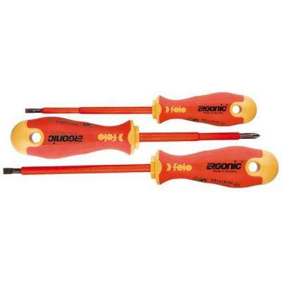 Slotted and Phillips Insulated Ergonic Screwdriver Set (3-Piece)