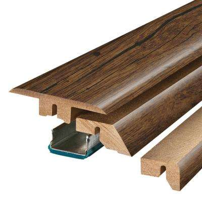 Rustic Espresso Oak/Mainland Brown 3/4 in. Thick x 2-1/8 in. Wide x 78-3/4 in. Length Laminate 4-in-1 Molding
