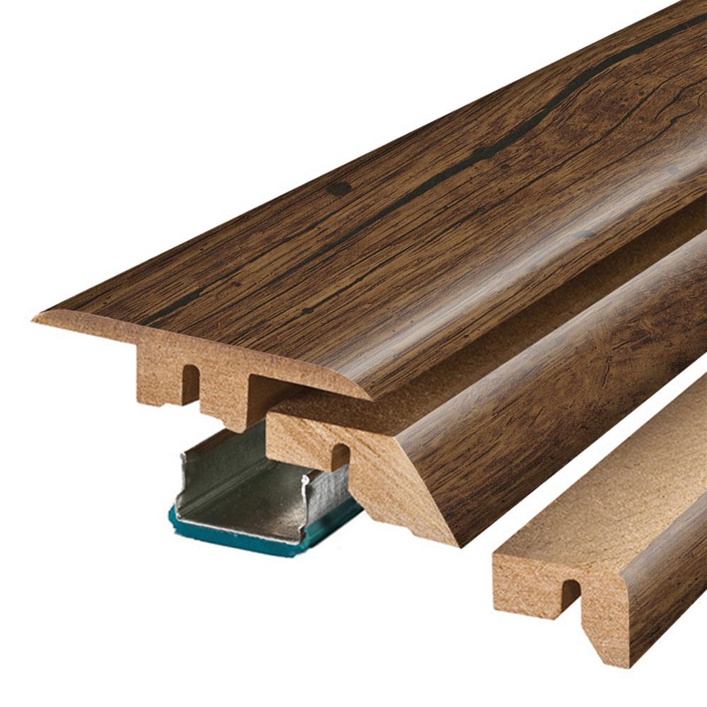 Rustic Espresso Oak 3/4 in. Thick x 2-1/8 in. Wide x 78-3/4 in. Length Laminate 4-in-1 Molding