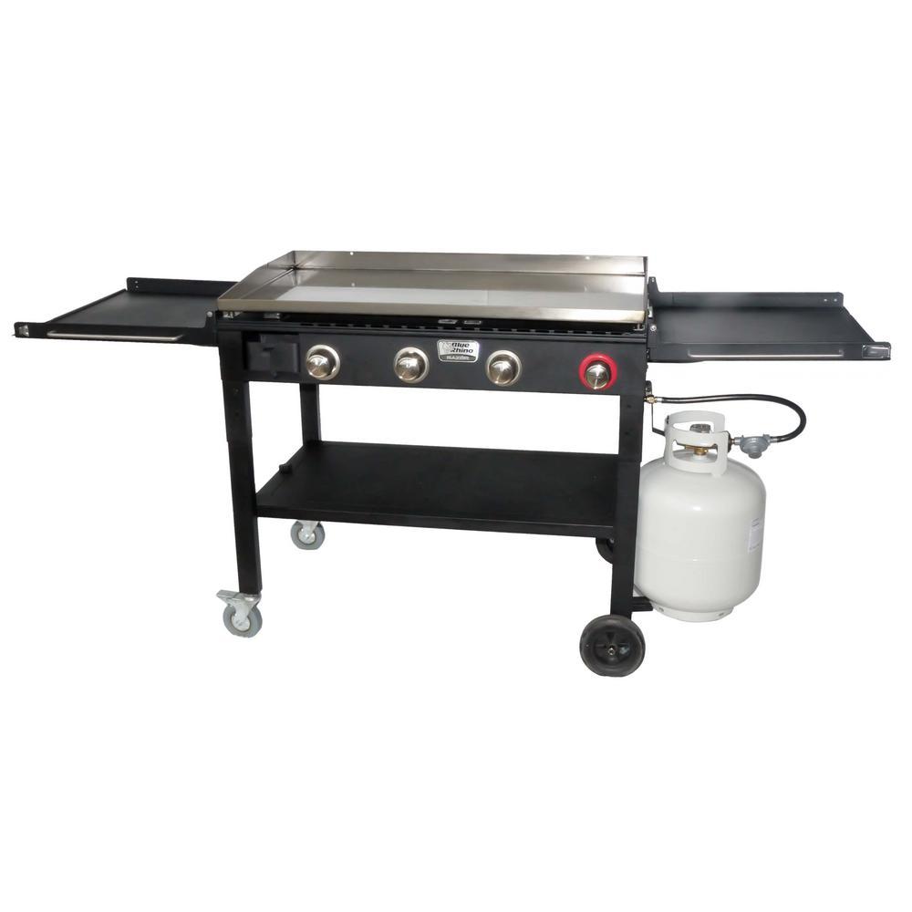 4-Burner Propane Gas Grill in Black
