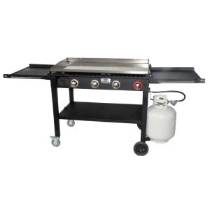 Click here to buy Blue Rhino 4-Burner Propane Gas Grill in Black by Blue Rhino.