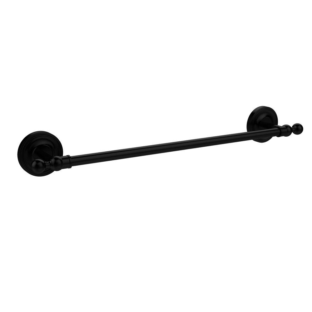 Allied Brass Regal Collection 18 in. Towel Bar in Matte Black