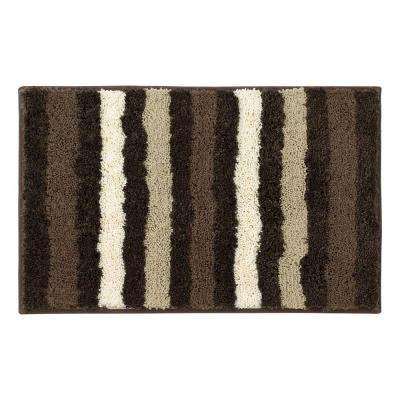 Dmitri Chocolate 18 in. x 30 in. Bath Rug