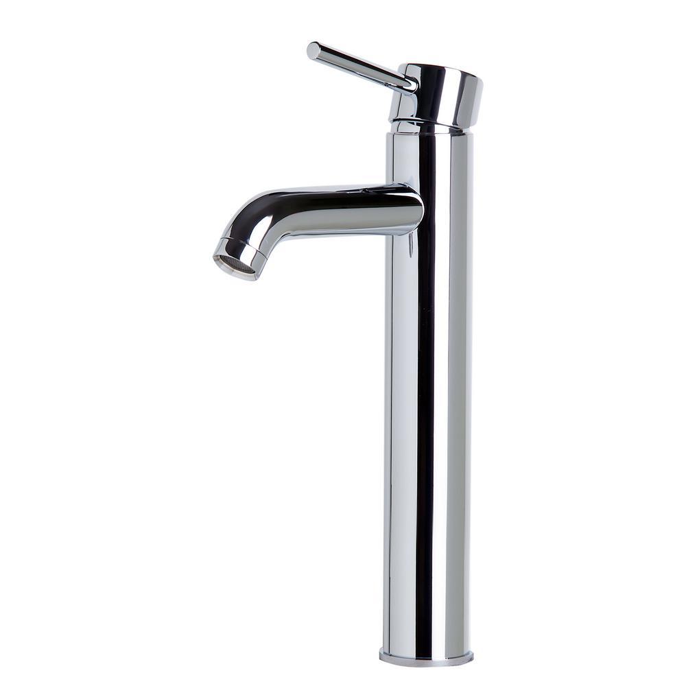 AB1023-PC Single Hole Single-Handle Bathroom Faucet in Polished Chrome