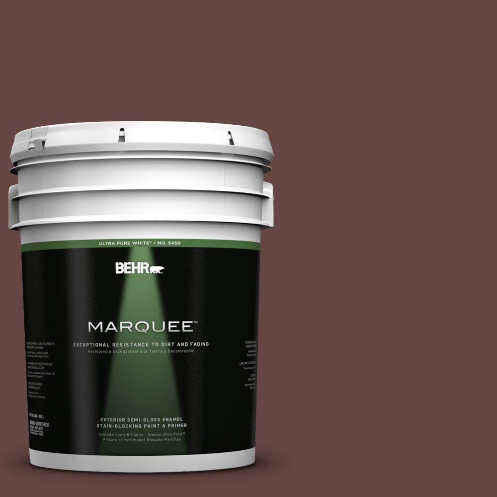 BEHR MARQUEE 5-gal. #700B-7 Wild Manzanita Semi-Gloss Enamel Exterior Paint