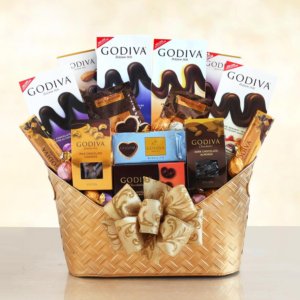 Chocolate Gift Baskets: Majestic Godiva Gift Basket Dessert Chocolate Sweets Set