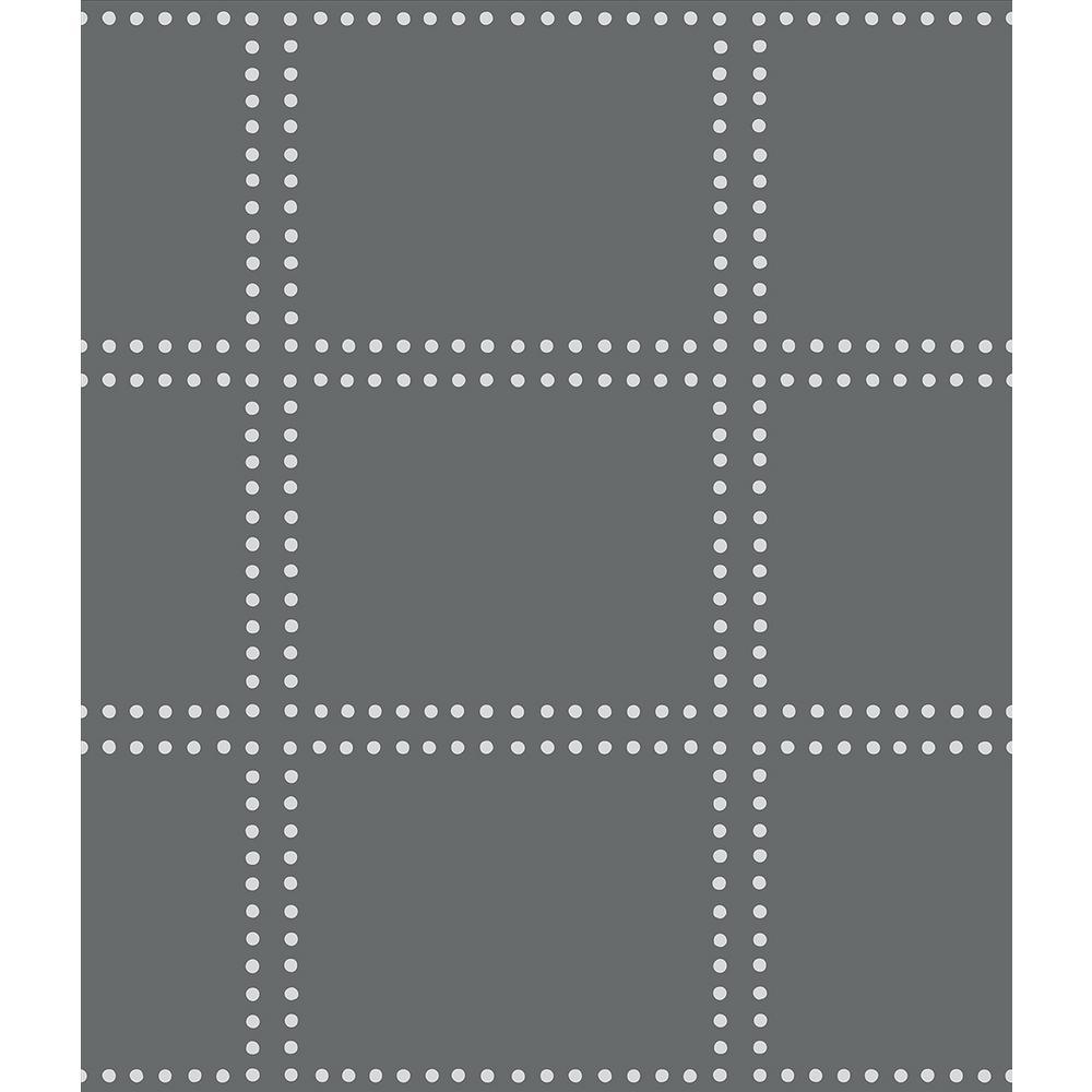 A-Street Gridlock Charcoal Geometric Wallpaper 2697-22639
