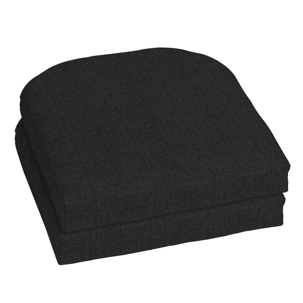 Home Decorators Collection 18 X Sunbrella Canvas Black Outdoor Chair Cushion 2 Pack