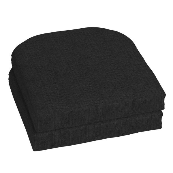 Home Decorators Collection 18 X 18 Sunbrella Canvas Black Outdoor Chair Cushion 2 Pack Ah1n366b D9d2 The Home Depot