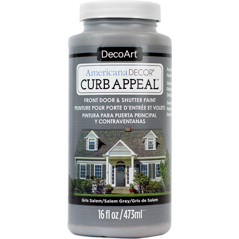 Americana Decor Curb Appeal 16 oz. Salem Grey Paint