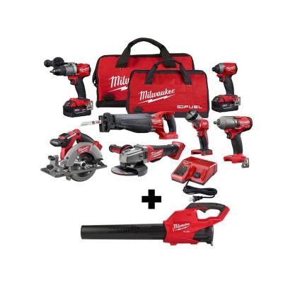 M18 FUEL 18-Volt Lithium-Ion Brushless Cordless Combo Kit (7-Tool) with M18 FUEL Handheld Blower