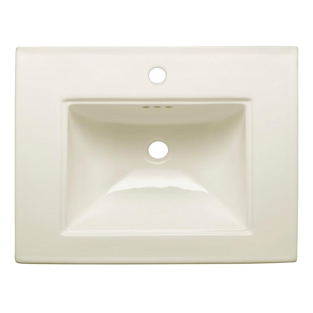 memoirs 5 in ceramic pedestal sink basin in biscuit with overflow