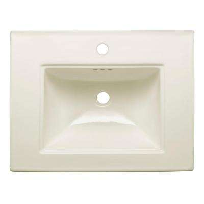 Memoirs 5 in. Ceramic Pedestal Sink Basin in Biscuit with Overflow Drain