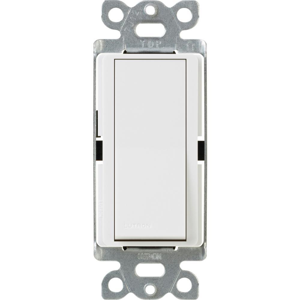 Claro 15 Amp 4-Way Rocker Switch with Locator Light, White