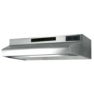 ESDQ Series 24 in. ENERGY STAR Certified Under Cabinet Convertible Range Hood Deluxe Quiet with Light in Stainless Steel