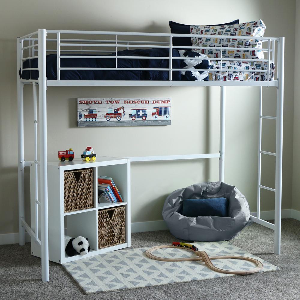 Walker Edison Furniture Company Sunrise Twin Metal Loft Bed