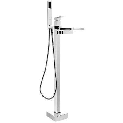 Merveilleux 2 Handle Freestanding Tub Faucet With Handheld Shower Wand In Chrome