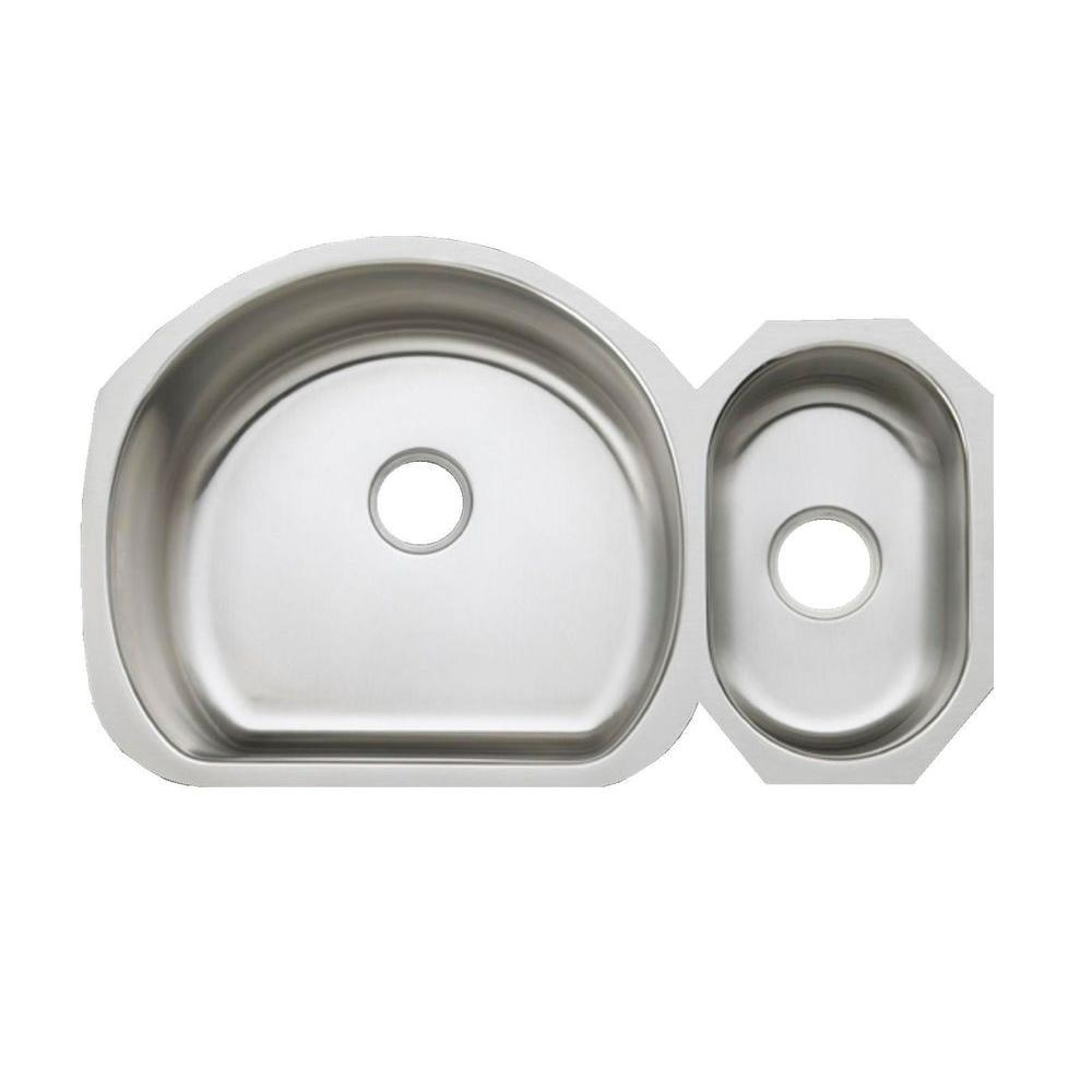 KOHLER Undertone Undermount Stainless Steel 35 in. Double Basin Kitchen Sink