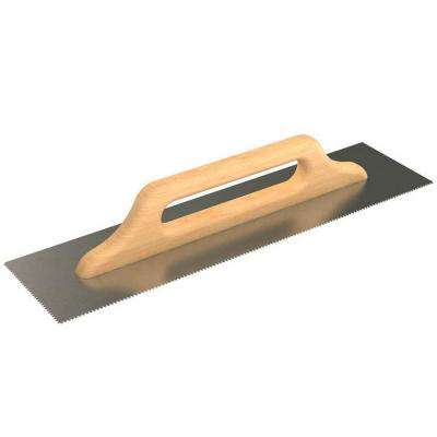 19-3/4 in. x 5 in. Notched Plaster Flooring Trowel with Notch Size 2 mm