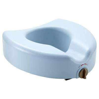 Locking Elevated Toilet Seat with Microban in White