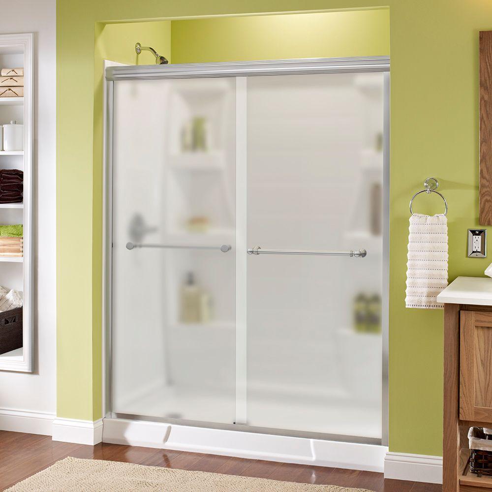 Silverton 60 in. x 70 in. Semi-Frameless Sliding Shower Door in