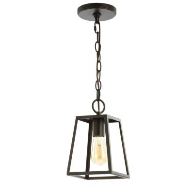 Ira 6.25 in. 1-Light Oil Rubbed Bronze Metal LED Pendant