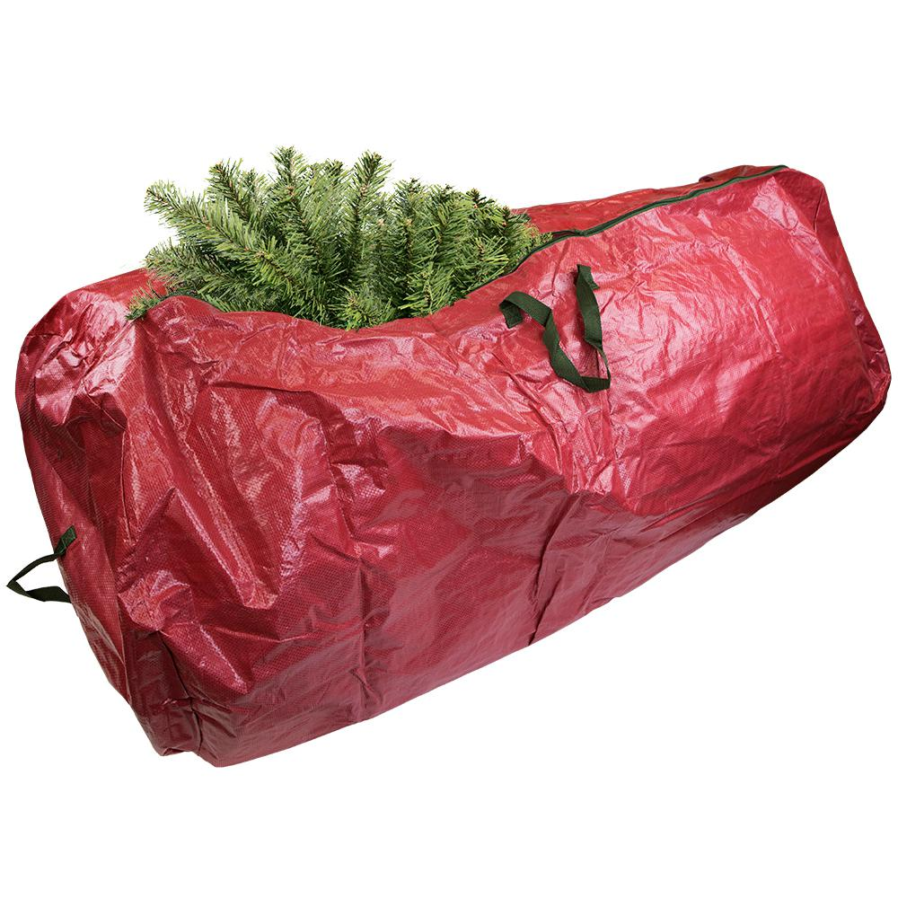 Christmas Tree Storage Bag.Home Basics Red Artificial Tree Storage Bag
