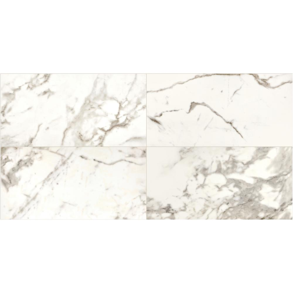 Marble View Calacatta Matte 24 in. x 48 in. Color Body