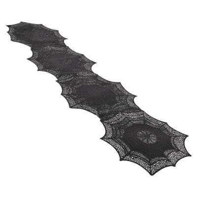 13 in. x 0.1 in. x 54 in. Vinyl Halloween Spider Web Table Runner