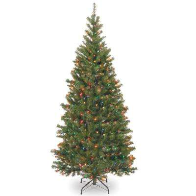 6.5 ft. Aspen Spruce Artificial Christmas Tree with Multicolor Lights