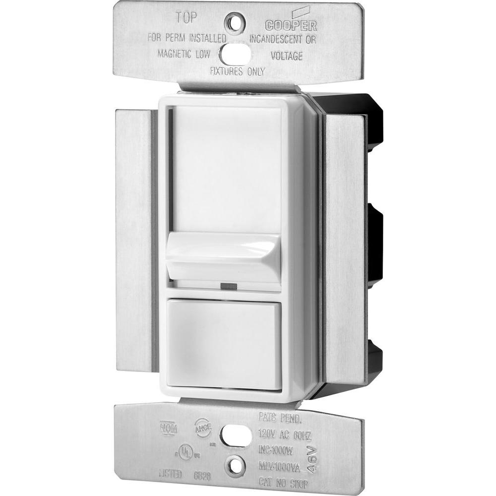Eaton Skye 1000Watt 3Way SinglePole Full Slide Decorator Dimmer