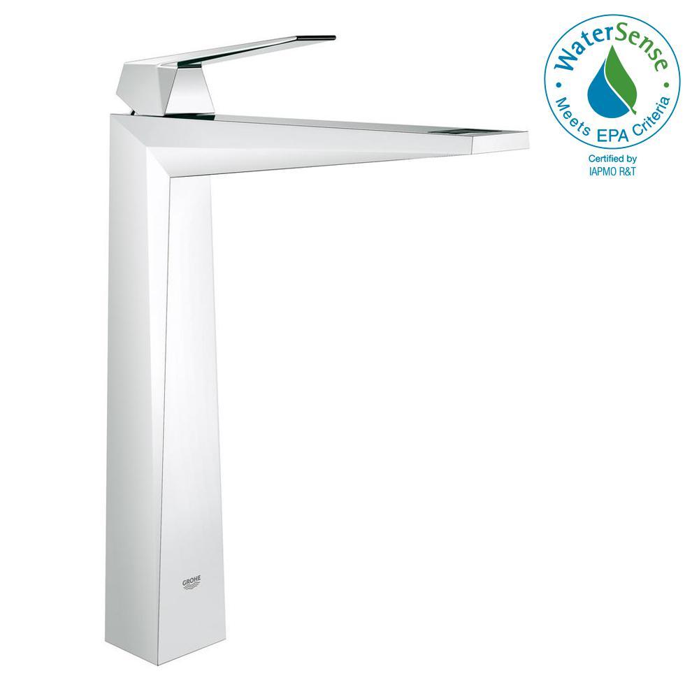 Allure Brilliant Single Hole Single-Handle 1.2 GPM Vessel Bathroom Faucet in StarLight Chrome