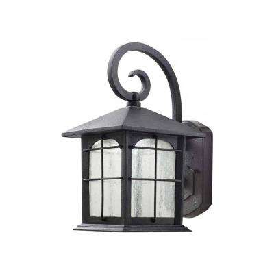 Aged Iron Outdoor LED Wall Lantern Sconce
