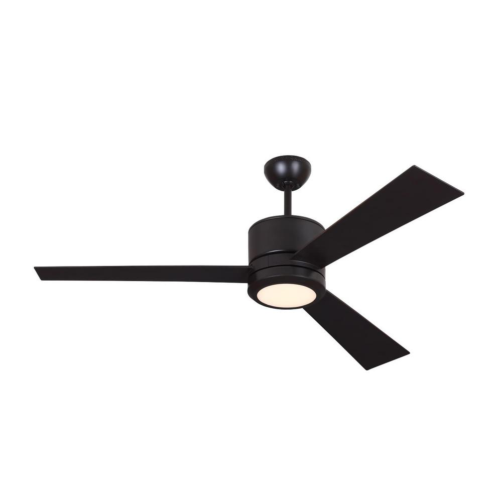 Vision 52 in. LED Oil Rubbed Bronze Ceiling Fan with Light Kit