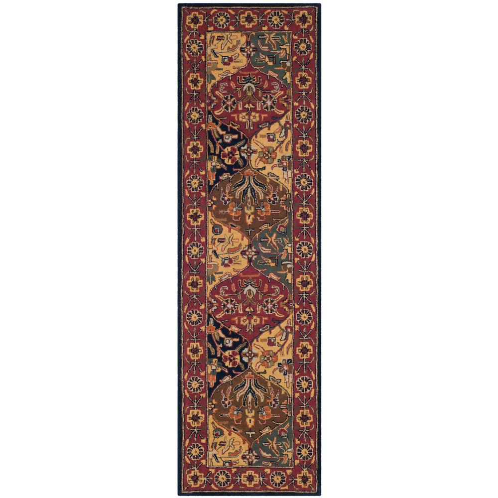 Safavieh Heritage Multi Navy 2 Ft X 14 Runner Rug