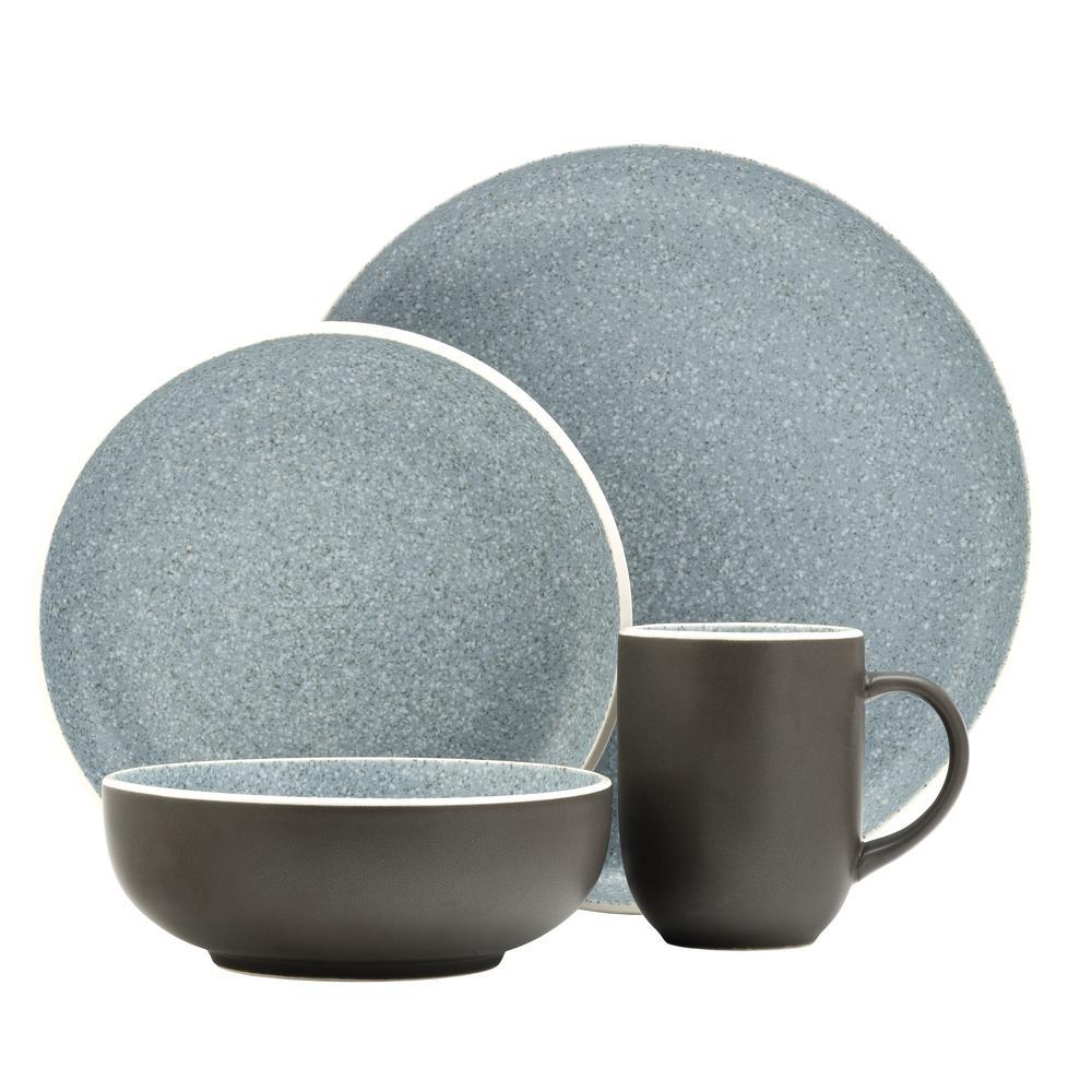 16 Piece Tailor Granite Dinnerware Set