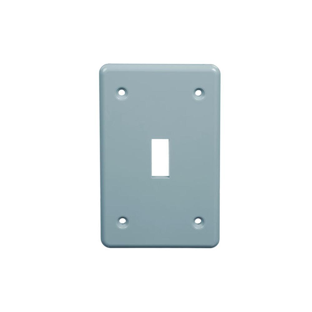 1 Gang Non Metallic Weather Proof Single Receptacle Cover by Carlon