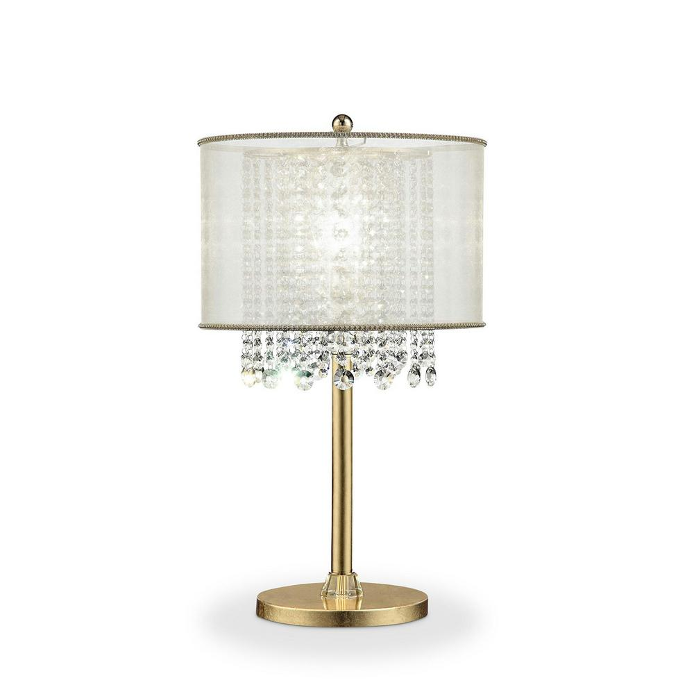 ORE International Bhavya 30 In. Crystal Gold Table Lamp