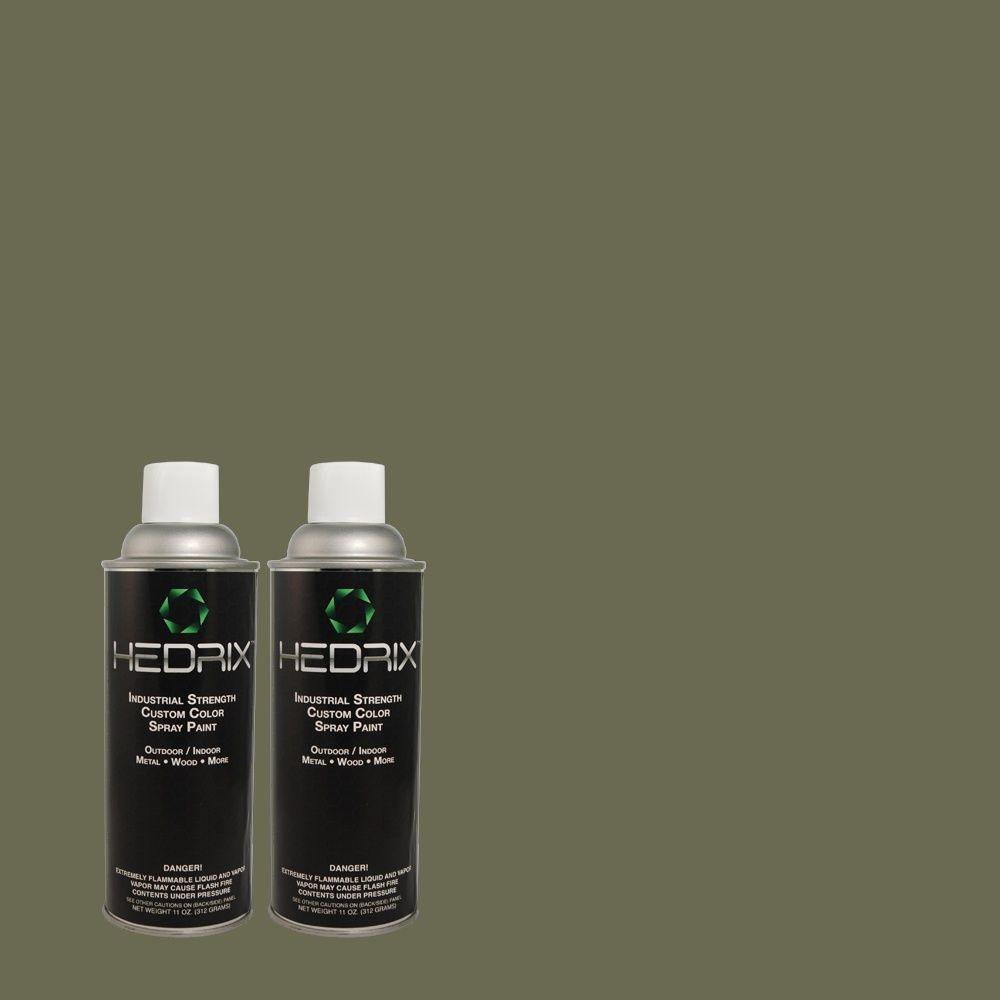Hedrix 11 oz. Match of MQ6-14 Northern Glen Low Lustre Custom Spray Paint (2-Pack)