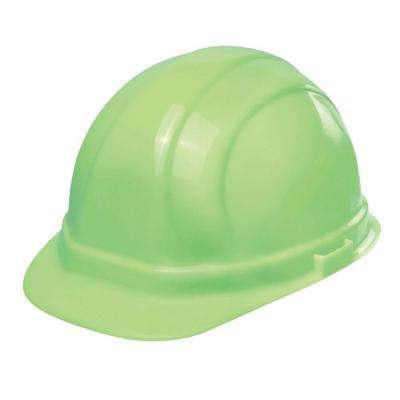 Omega II 6 Point Nylon Suspension Slide-Lock Cap Hard Hat in Glow-Mega