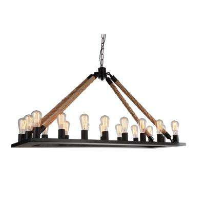 Ganges 18-Light Black Chandelier