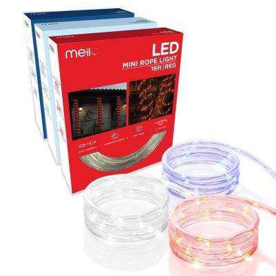 16 ft. Integrated LED Mini Rope Light Bundle - Red/White/Blue (3-Pack)