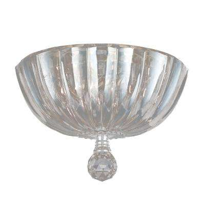 Mansfield Collection 3-Light Clear Crystal Flushmount