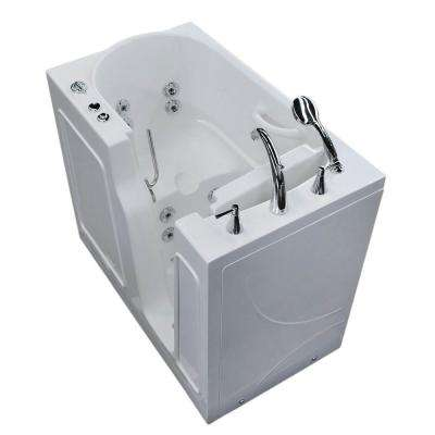 HD Series 46 in. Right Drain Quick Fill Walk-In Whirlpool Bath Tub with Powered Fast Drain in White