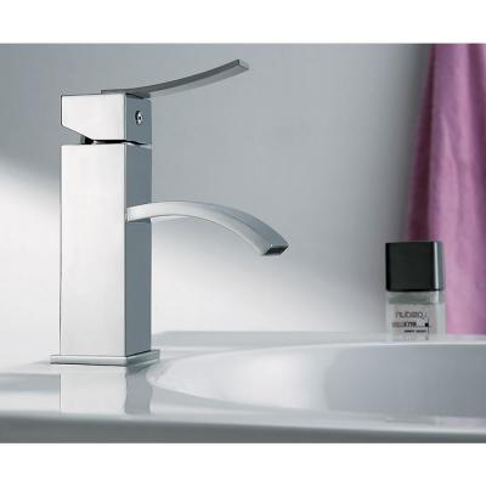 AB1258-PC Single Hole Single-Handle Bathroom Faucet in Polished Chrome