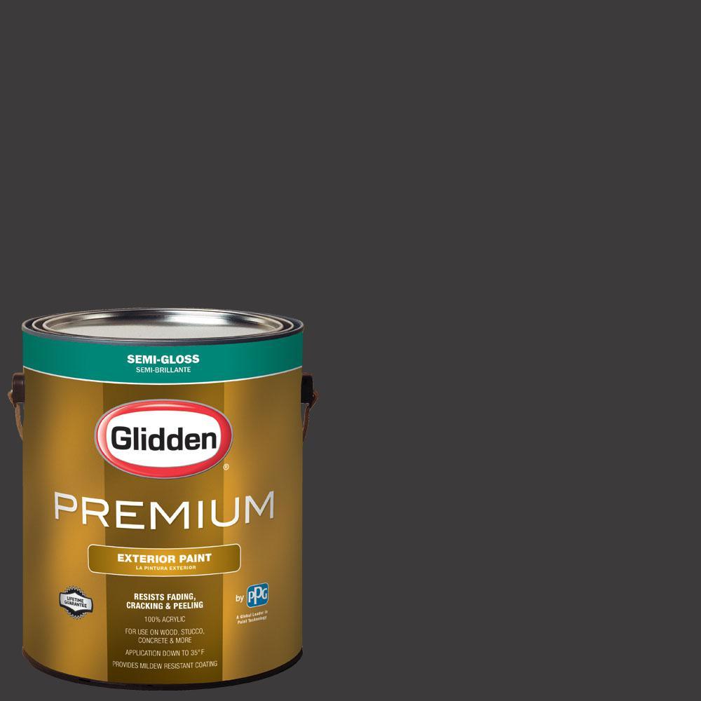 1 gal. #NHL-008C Colorado Avalanche Black Semi-Gloss Exterior Paint