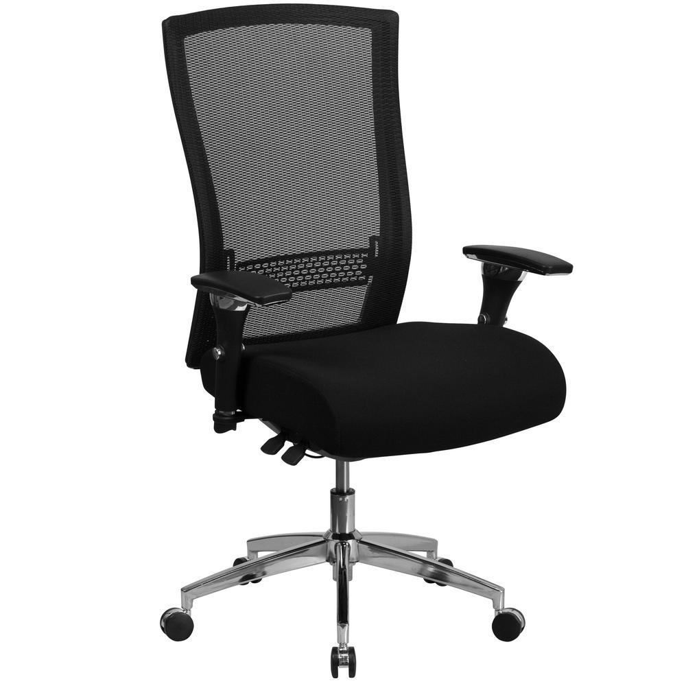 Black Fabric Mesh Office Desk Chair