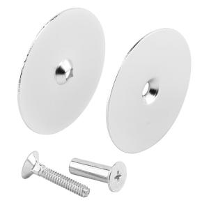 Prime-Line 2-5/8 in  Steel, Satin Nickel Plated, Hole Cover Plate-U