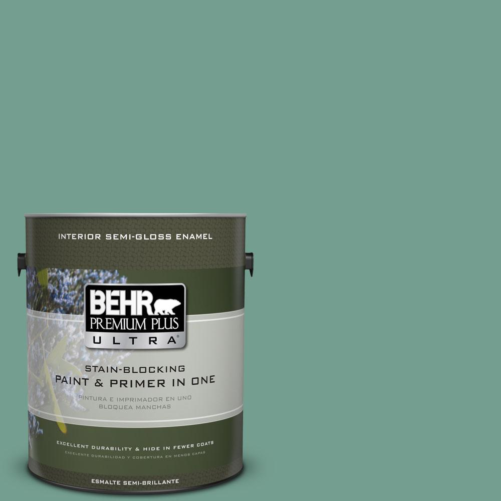 BEHR Premium Plus Ultra 1-gal. #M430-5 Regal View Semi-Gloss Enamel Interior Paint